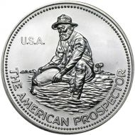 1 oz Engelhard Prospector Rounds .999 Fine Silver - Varying Years