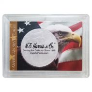 H.E. Harris 2x3 Silver Eagle Frosted Case Holder - Flag & Eagle