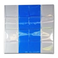 Blue Vinyl 2x2 Flips - Sheet of 8