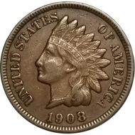1908 S Indian Head Penny - XF (Extra Fine)