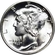 1941 S Mercury Dime - BU (Brilliant Uncirculated)