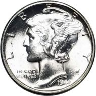 1944 D Mercury Dime - BU (Brilliant Uncirculated)