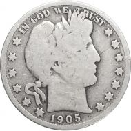 1905 S Barber Half Dollar - G (Good)