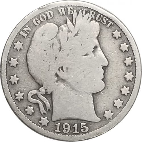 1915 Barber Half Dollar - VG (Very Good)