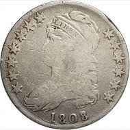 1808/7 Capped Bust Half Dollar - G (Good)