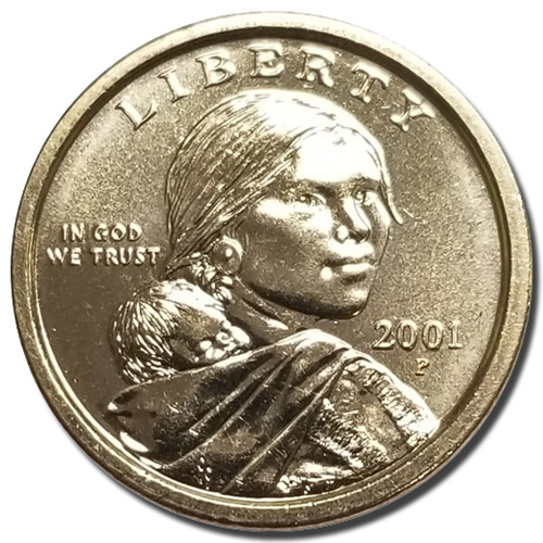 """2000 P Sacagawea Dollar US Mint Coin in /""""Brilliant Uncirculated/"""" Condition"""